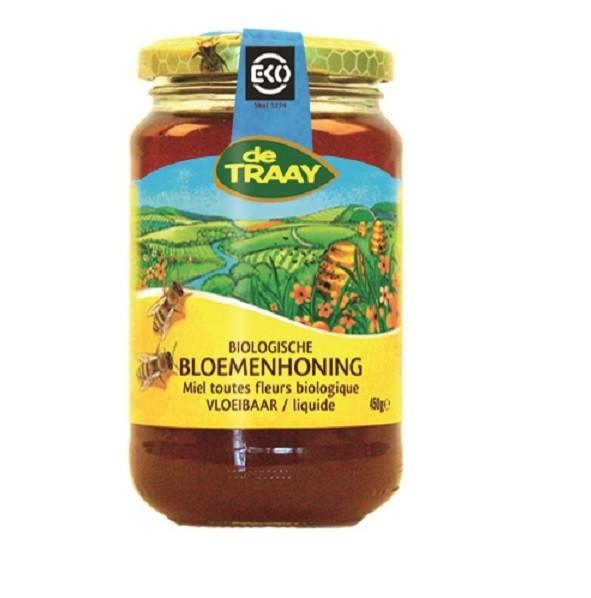 De Traay bloemen honing eko 450 gr