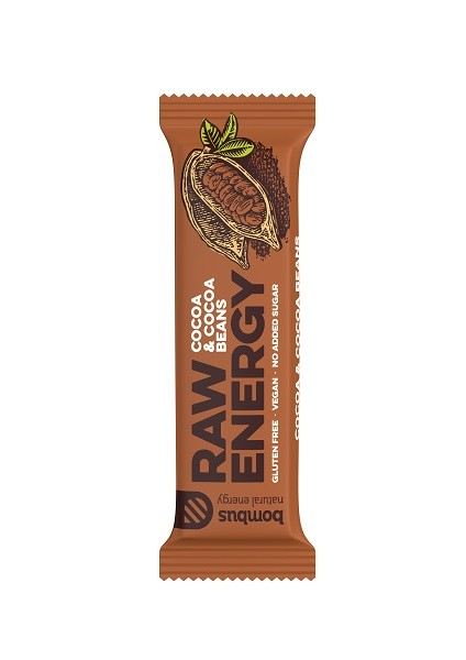 Energie reep cacao & cacaobonen Raw 50gr. Bombus