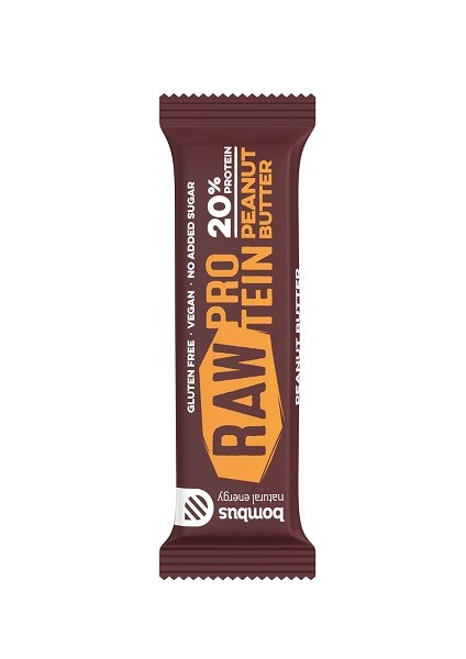 Bombus Raw Protein Bar Peanut Butter ds. 20st. van 50gr.
