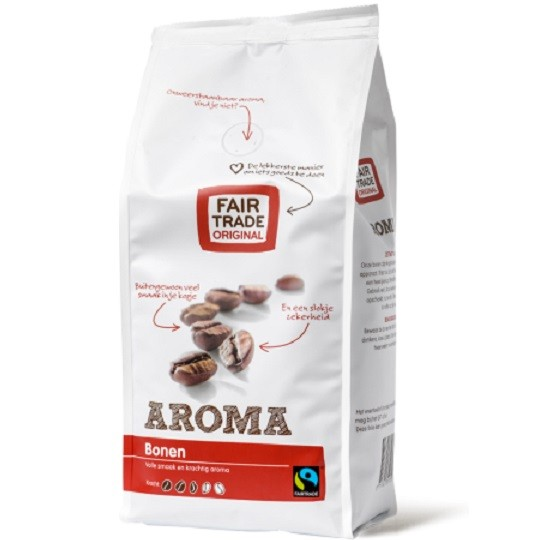 Koffiebonen aroma 500gr. Fairtrade