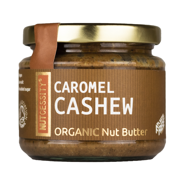 Notenboter ORGANIC caromel cashew pot 180gr. Nutcessity