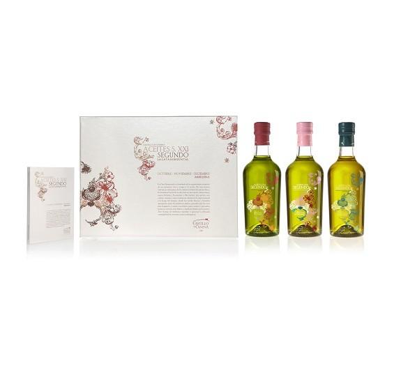 Castillo de Canena olijfolie geschenkpakket horizontal tasting 3 fles