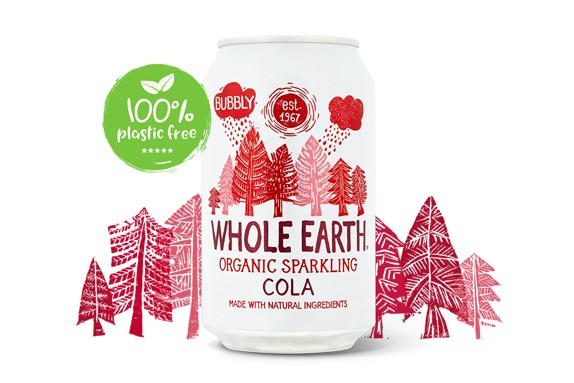 Cola frisdrank BIO blik 330ml. Whole Earth
