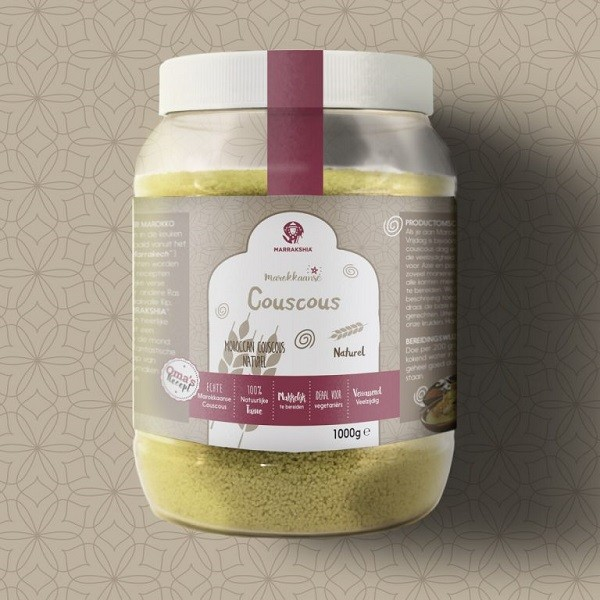 Marrakshia Premium Couscous naturel Moyen 1000gr
