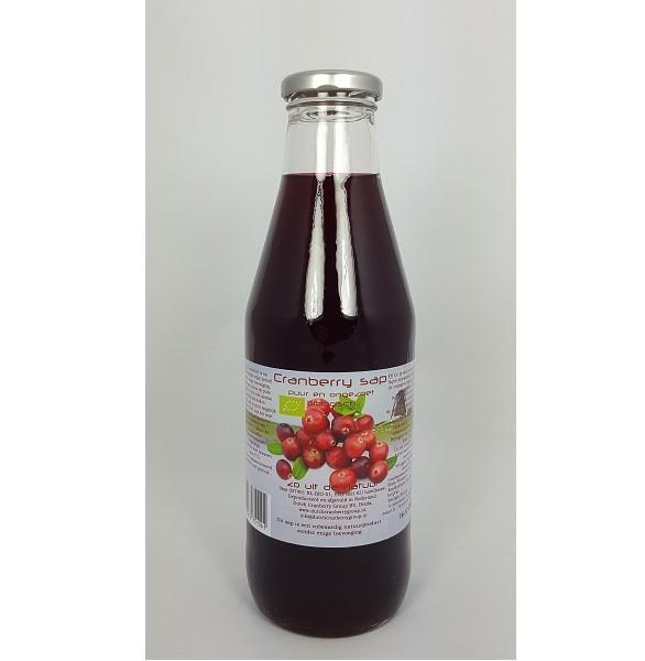 Dutch Cranberrysap ongezoet bio 750 ml