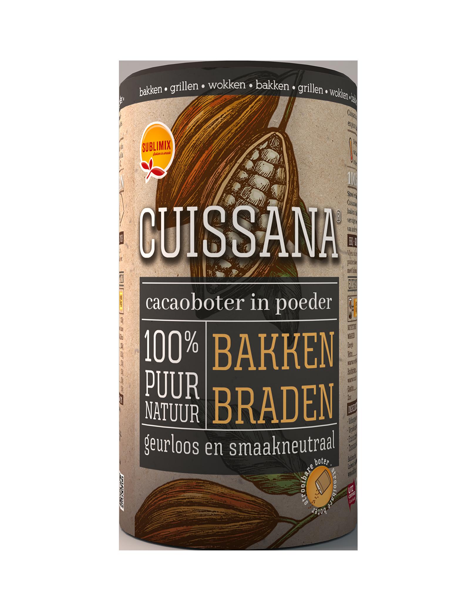 Cacaoboter in poedervorm 100gr. Cuissana