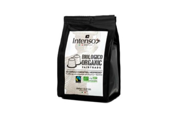 Composteerbare koffie capsules ds. 10 st.  BIO Intenso