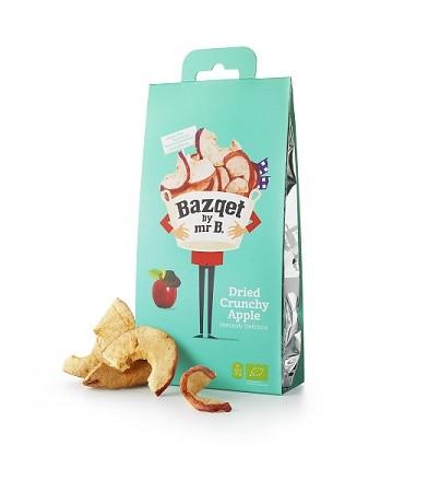Appel Crunchy gedroogd fruit BIO 20gr. Bazqet