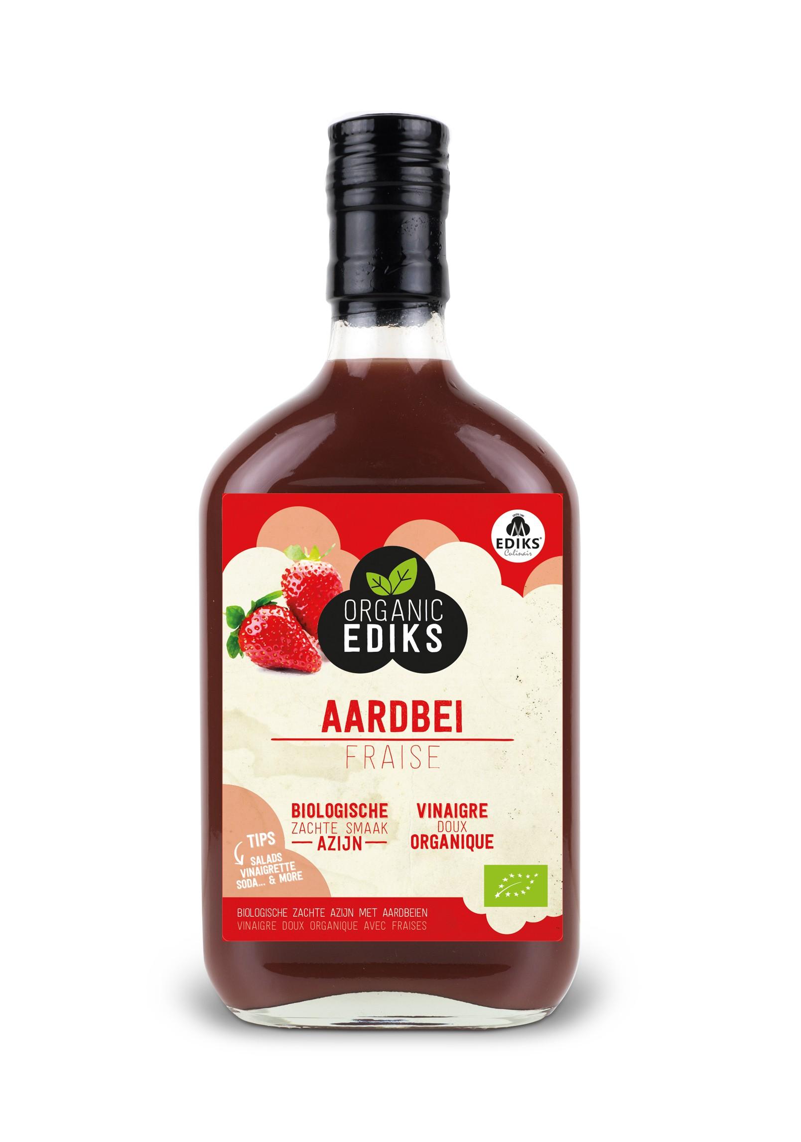 Ediks aardbeien azijnBIO 350 ml