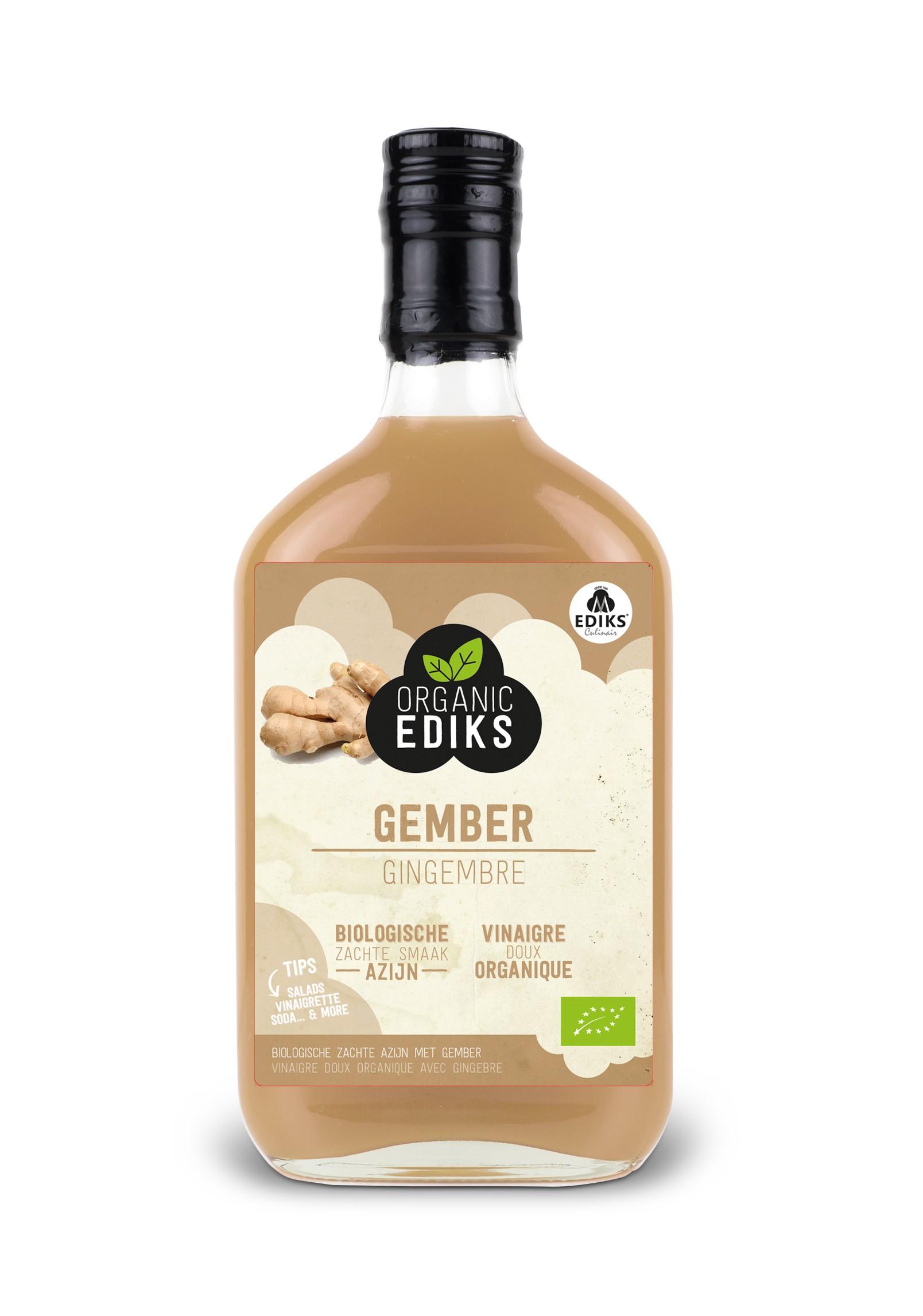 Ediks gember azijn BIO 350 ml