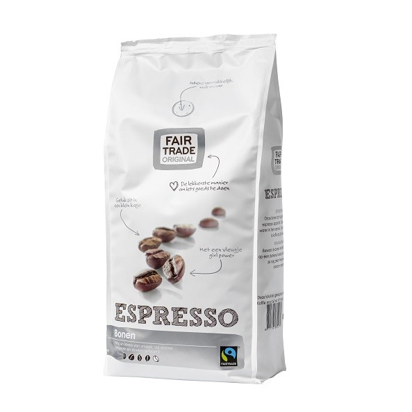 Fairtrade koffiebonen espresso 1000 gr