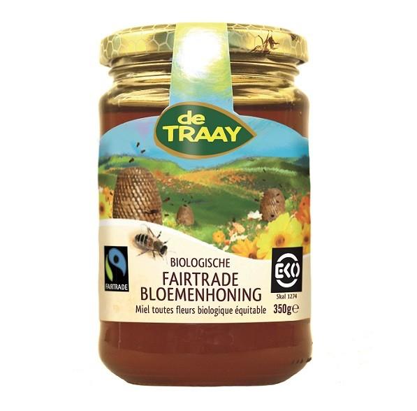 De Traay Fairtrade bloemen honing eko 350 gr