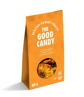 The Good Candy Biologische gedroogde Ananas 80 gr