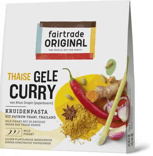 Thaise gele curry kruidenpasta 70gr. Fairtrade