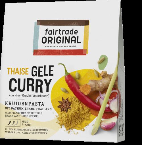 Thaise gele curry kruidenpasta 70gr. Fairtrade