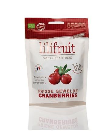 Cranberries hele gewelde en gedroogde BIO 150gr. Lilifruit