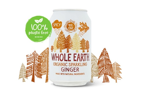 Ginger frisdrank BIO blijk 330ml. Whole Earth
