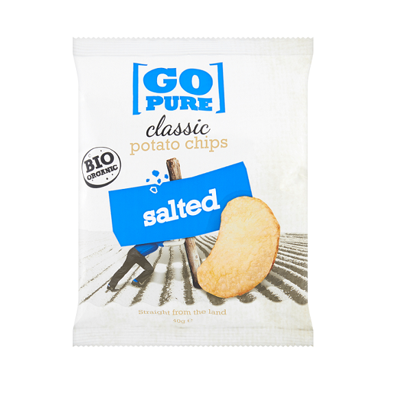 Go Pure naturel chips BIO 40 gr.
