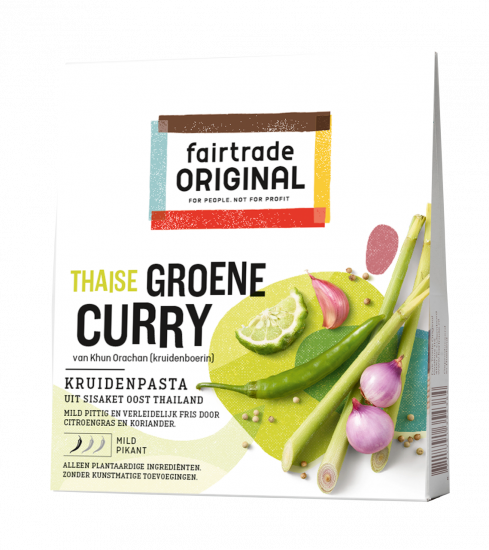 Thaise groene curry kruidenpasta 70gr. Fairtrade
