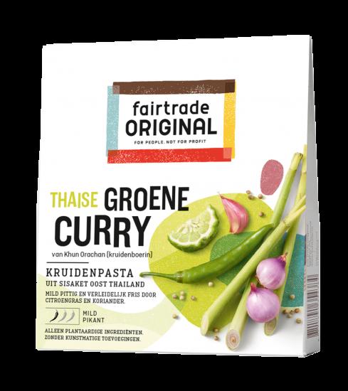 Thaise groene curry kruidenpasta 70gr. Fairtrade