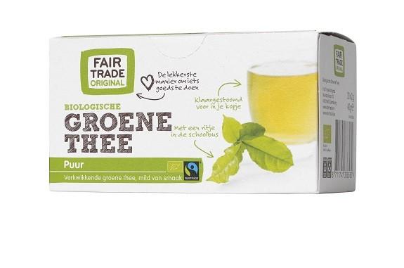 Fairtrade groene thee BIO 20 x 2 gr