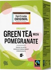Thee groen granaatappel BIO 35gr 20x1,75gr. Fairtrade