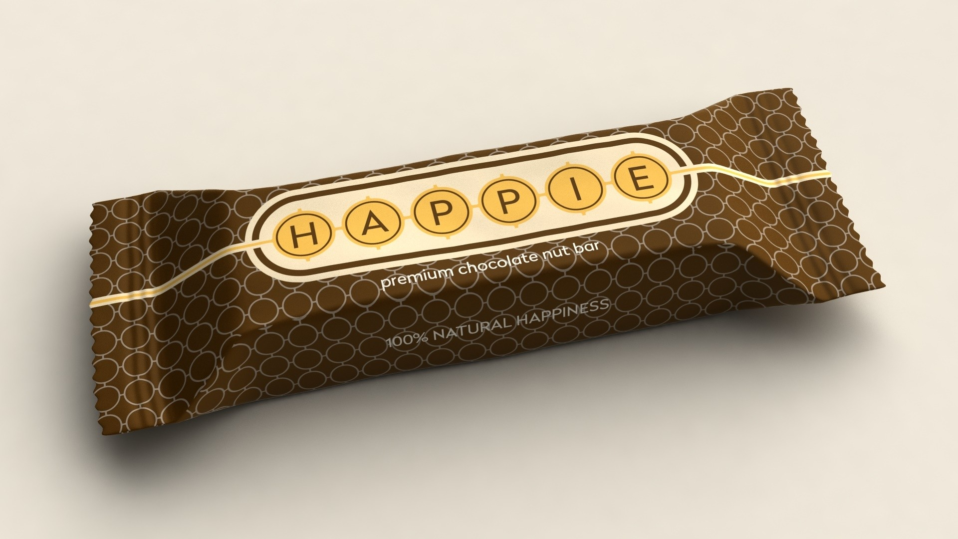 HAPPIE Chocolate Nut Bar ds. 12 repen van 50 gram