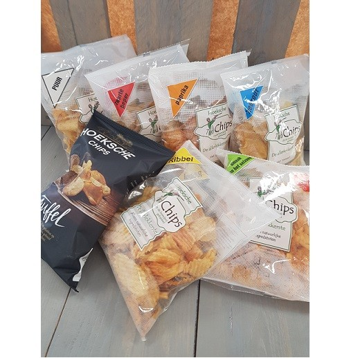 Chips geschenk borrel pakket 6 smaken. Heerlijke chips, zo van 't land! Hoeksche