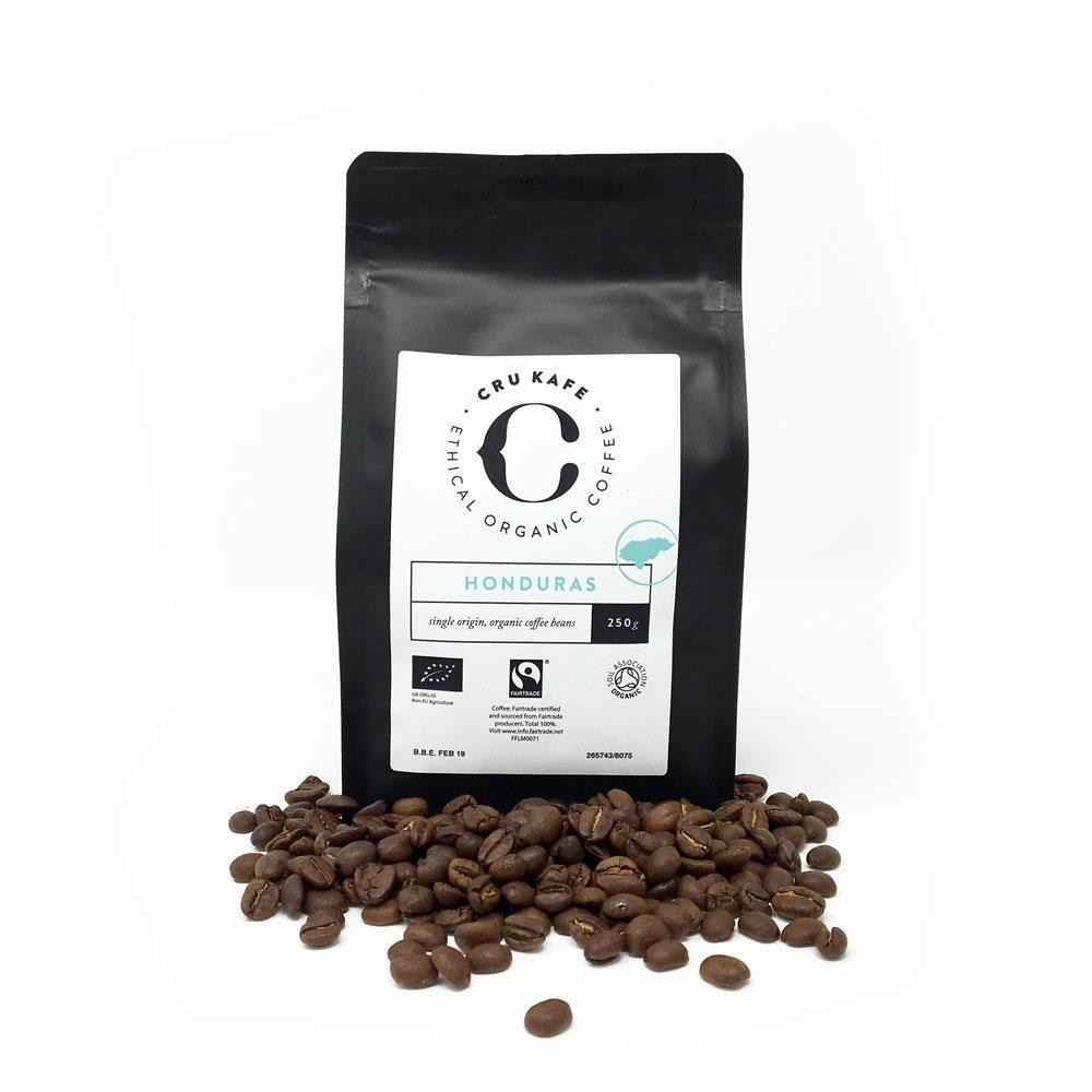 Cru Kafe Honduras BIO bonen 250 gr
