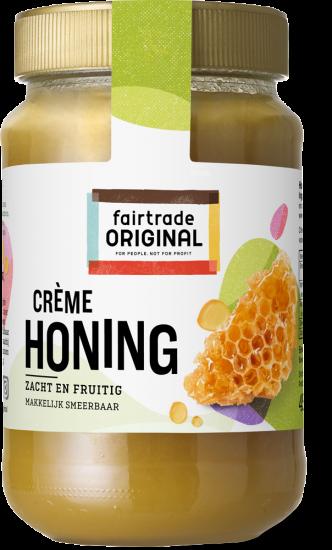 Honing crème tropische 450gr. Fairtrade