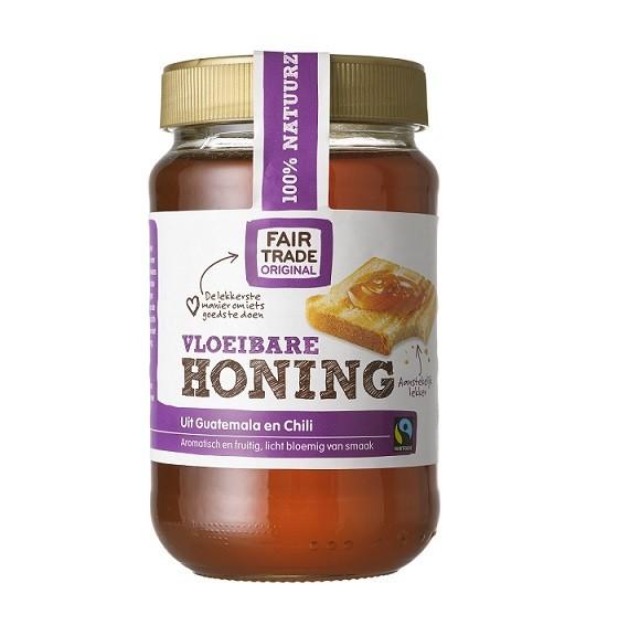 Fairtrade tropische honing vloeibaar 450 gr