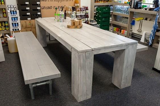 BenFatto Picknicktafel + banken steigerhout