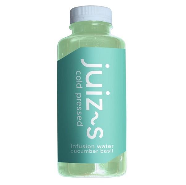 Infusion water komkommer-basilicum 380ml. Juiz~s
