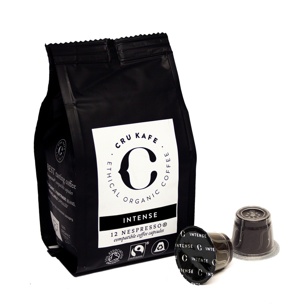 Cru Kafe Intense Roast koffie zak 12 cups