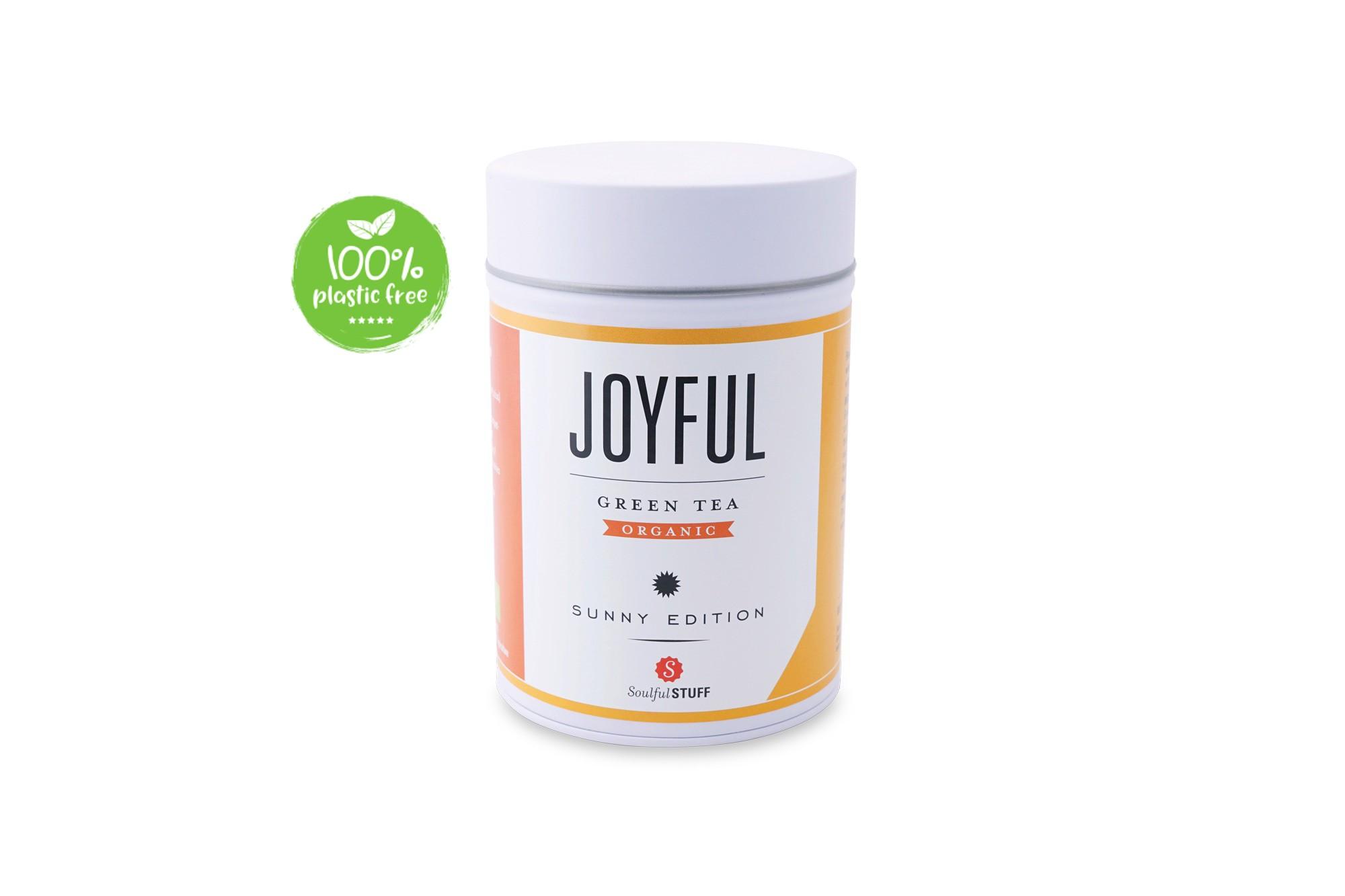 Joyful Green Tea Organic Blik 100gr. Intertee