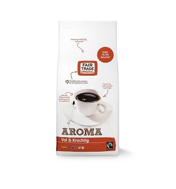 Koffie (gemalen snelfilter) aroma 1kg. Fairtrade