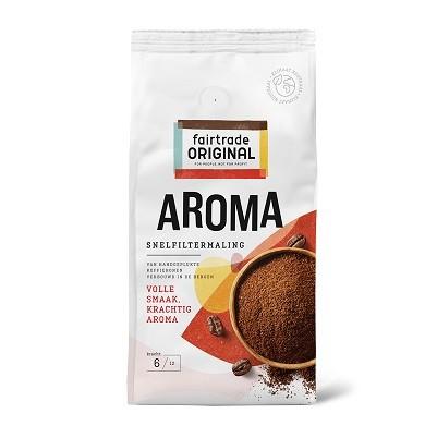 Koffie (gemalen snelfilter) aroma 500gr. Fairtrade