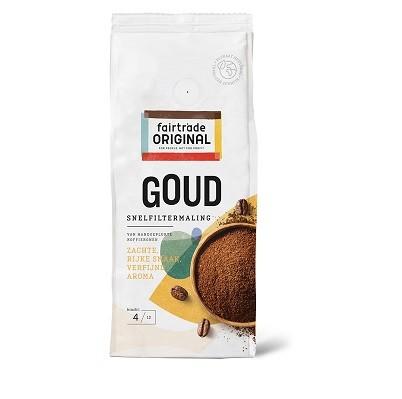 Koffie (gemalen snelfiter) Goud 250gr. Fairtrade