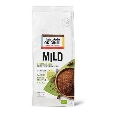 Koffie (gemalen snelfilter) mild BIO 250gr. Fairtrade