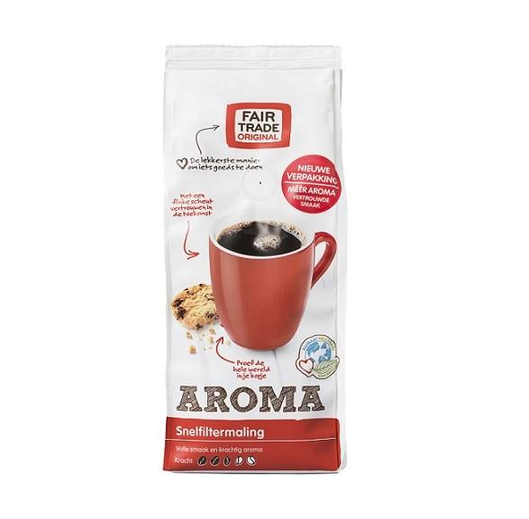 Koffie (gemalen snelfilter) aroma 250gr. Fairtrade