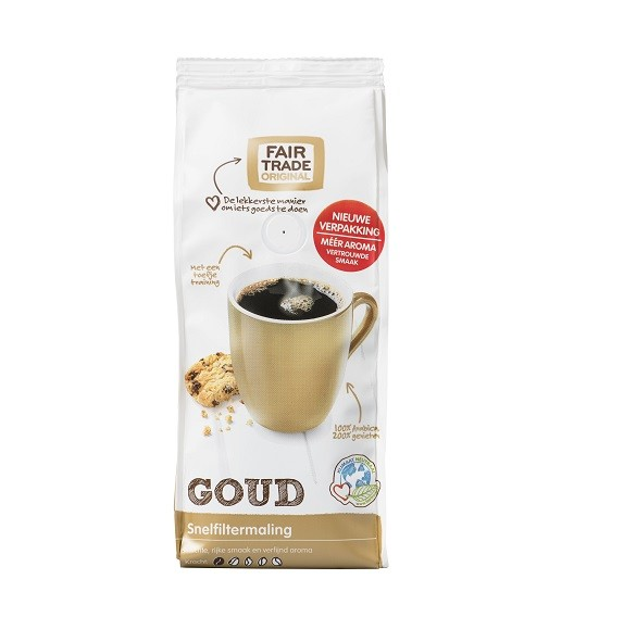 Fairtrade koffie goud snf 250 gr