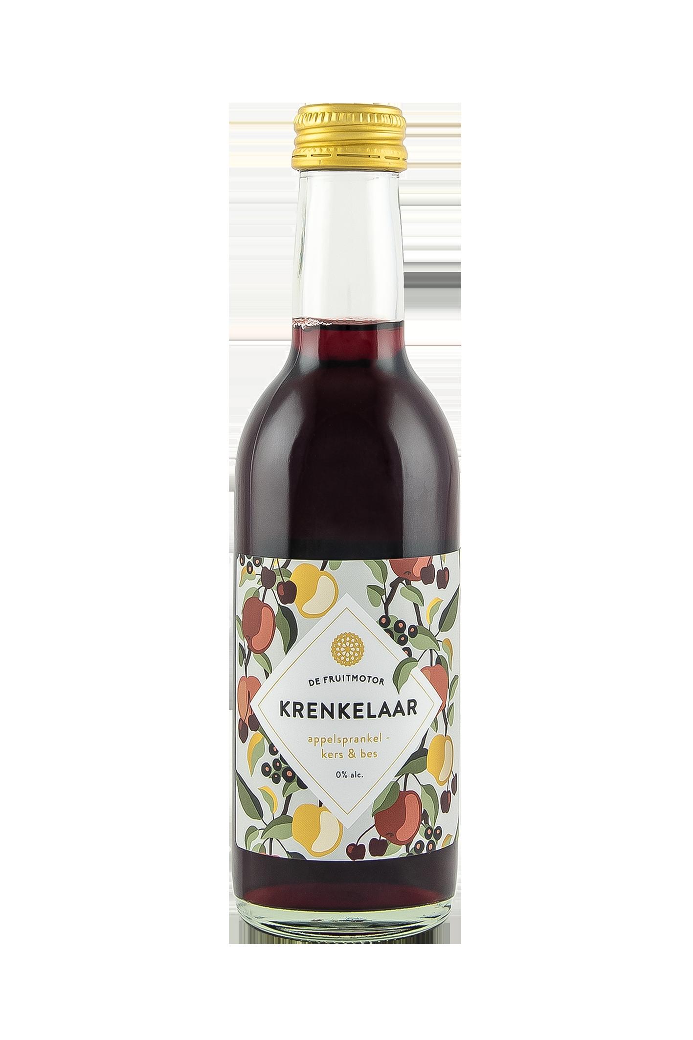 Kleintje Krenkelaar Appelsprankel Kers & Bes 250ml.