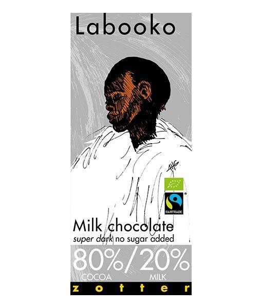 Chocolade melk super dark BIO 70gr. Zotter Labooko