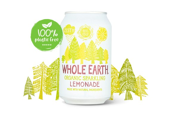 Lemonade frisdrank BIO blik 330ml. Whole Earth