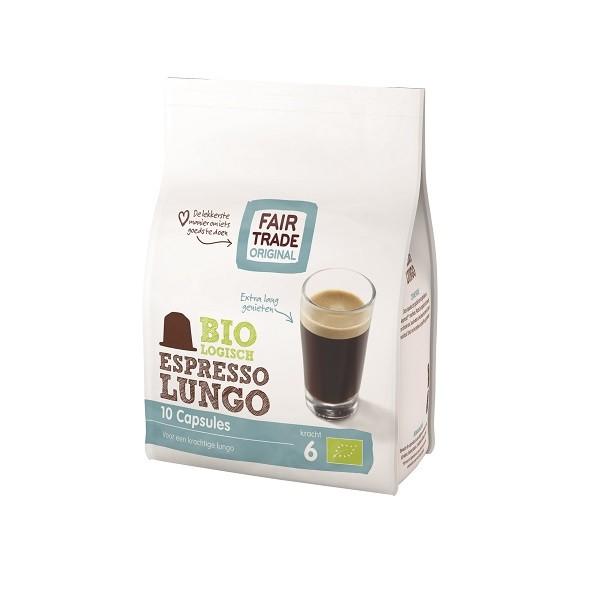 Indian koffie capsules espresso lungo BIO zak 10st. Fairtrade