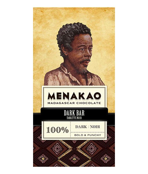 Menakao dark chocolade 75 gram 100% cacao