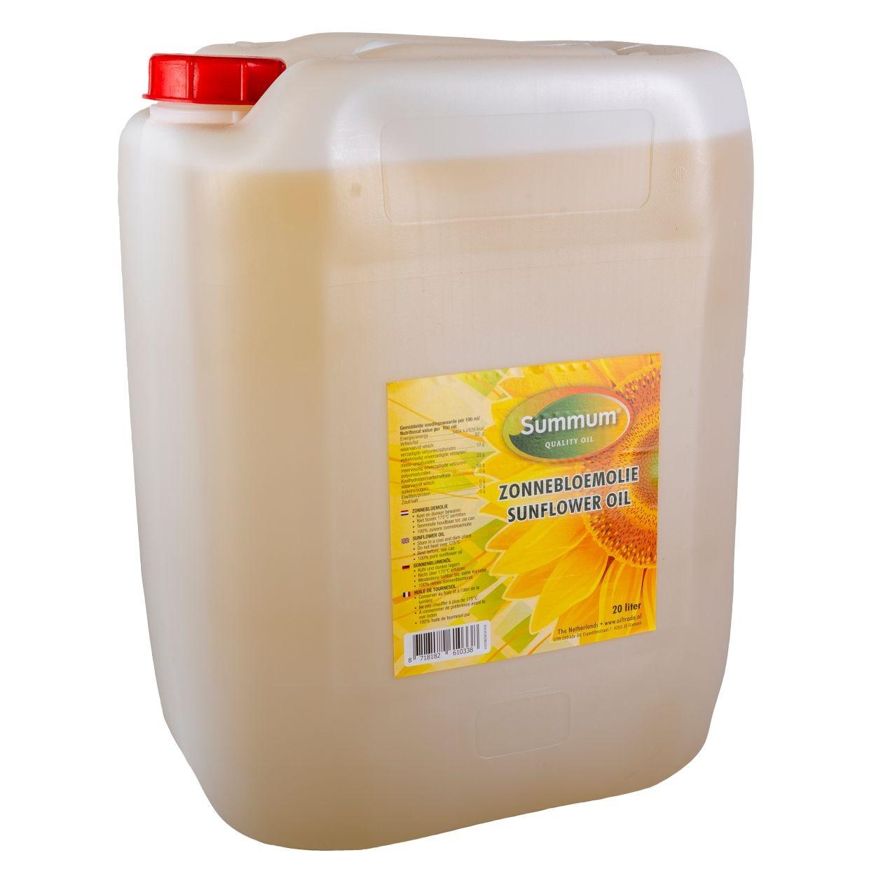 Zonnebloemolie jerrycan 20ltr. Summum