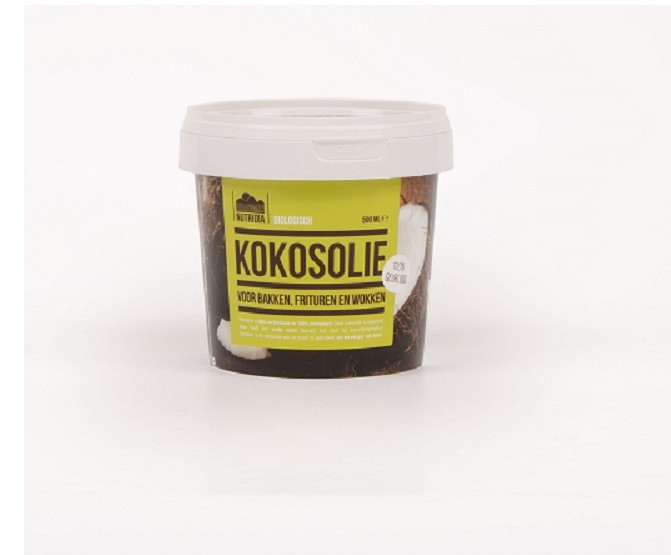 Kokosolie geurloos BIO 500ml. Nutridia