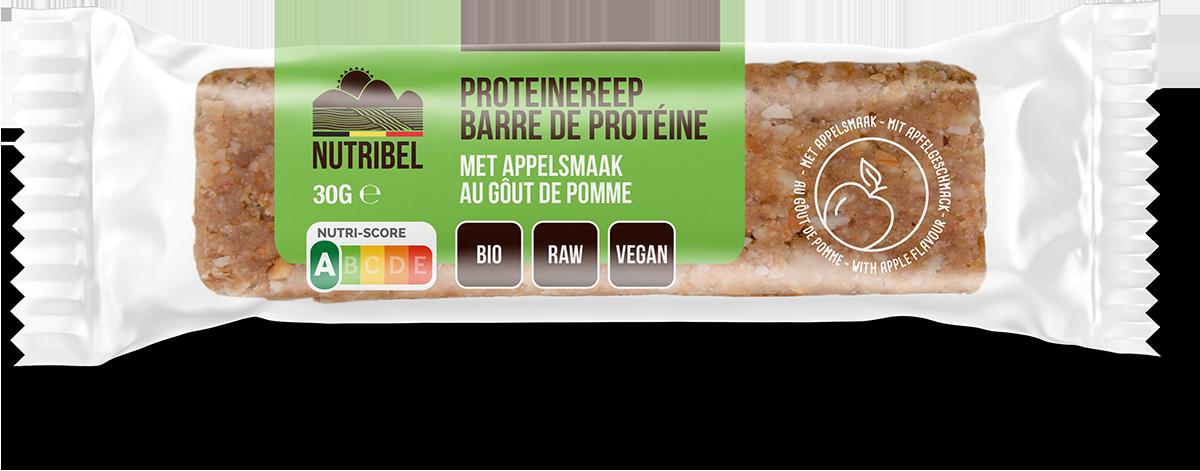 Nutribel proteinrepen appel BIO 20st. van 30gr.
