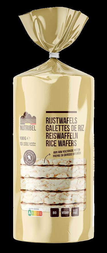 Rijstwafels glutenvrij BIO 100gr. Nutribel